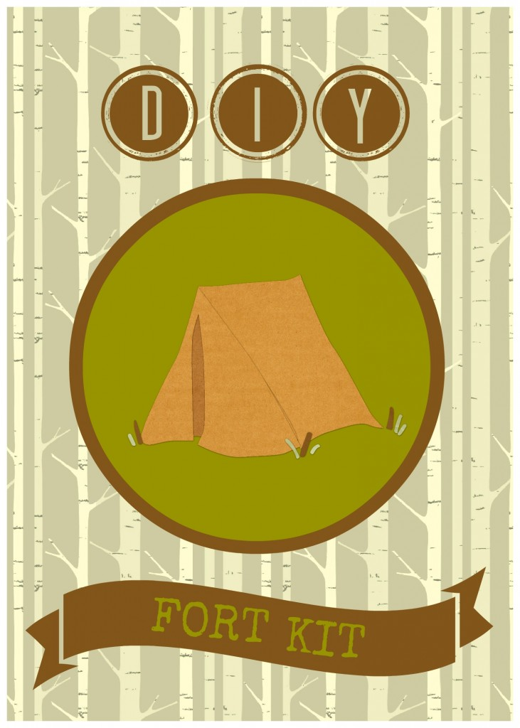 DIY fort kit card