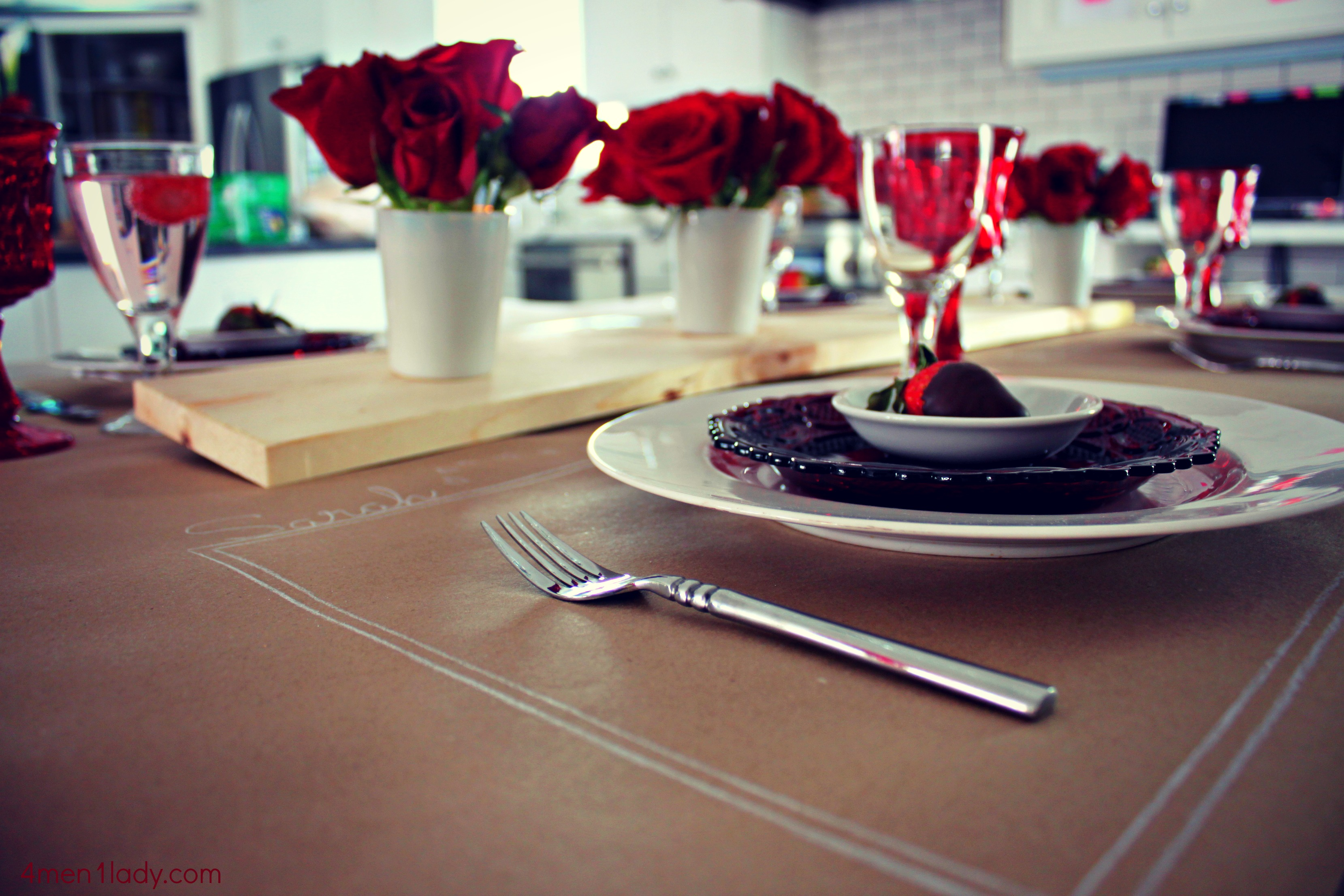 A Valentine S Day Dinner Table