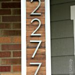 New house numbers project and a giveaway!