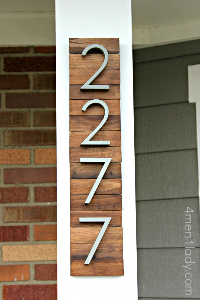 New house numbers project and a giveaway for Modern house numbers home depot