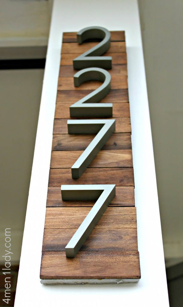 New house numbers project and a giveaway for Big modern house numbers