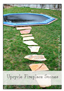 Upcycle Fireplace Stones
