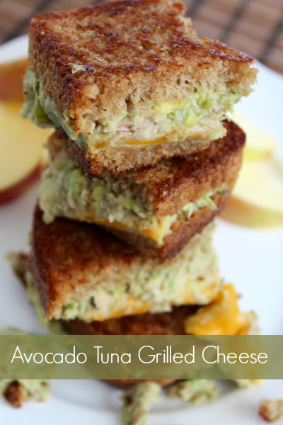 Avocado Tuna Grilled Cheese Sandwich- No Diets Allowed