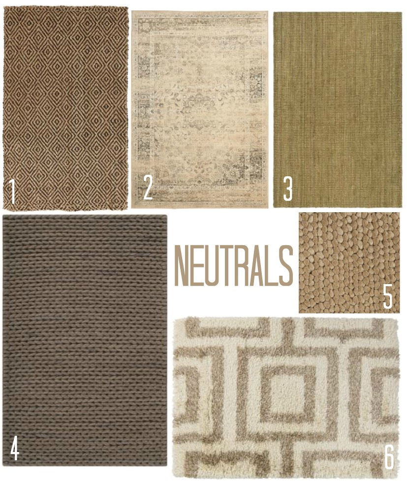 choosing a basement area rug.