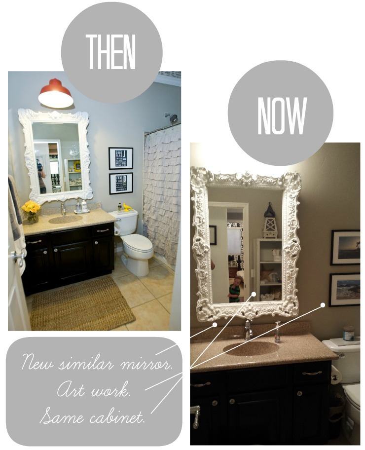 Then and now bath