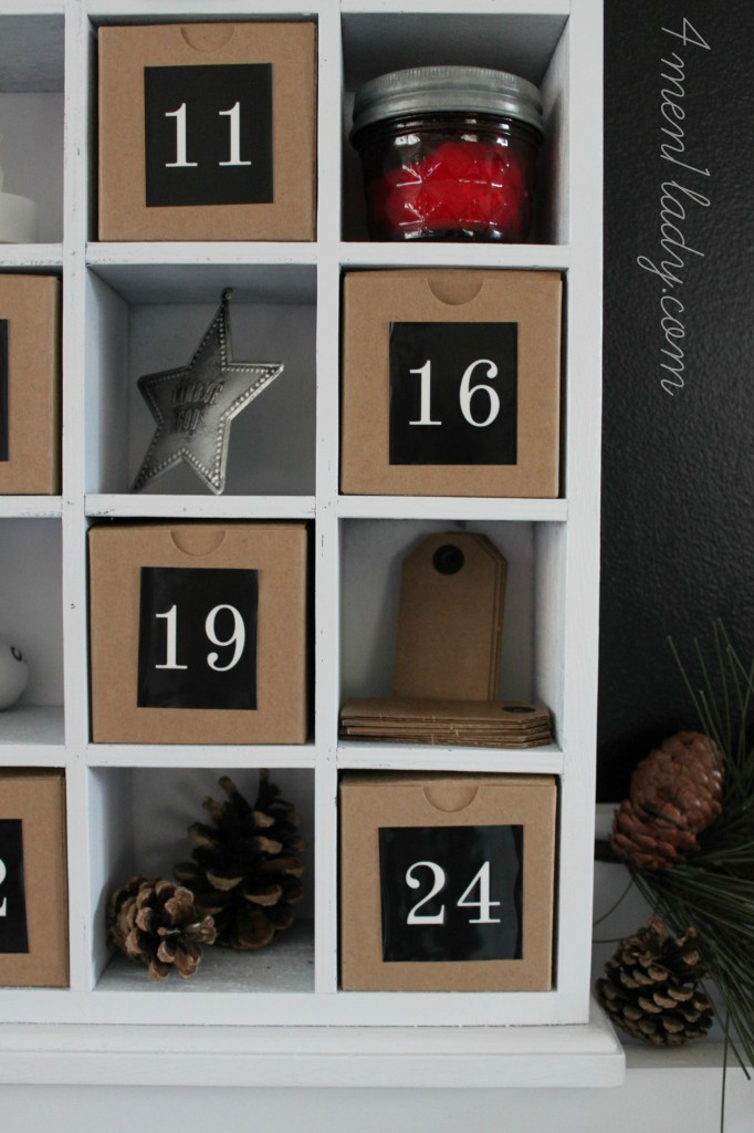 Advent Shadow Box Makeover