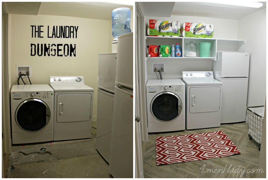 Laundry Room Makeover and Start Clean in 14