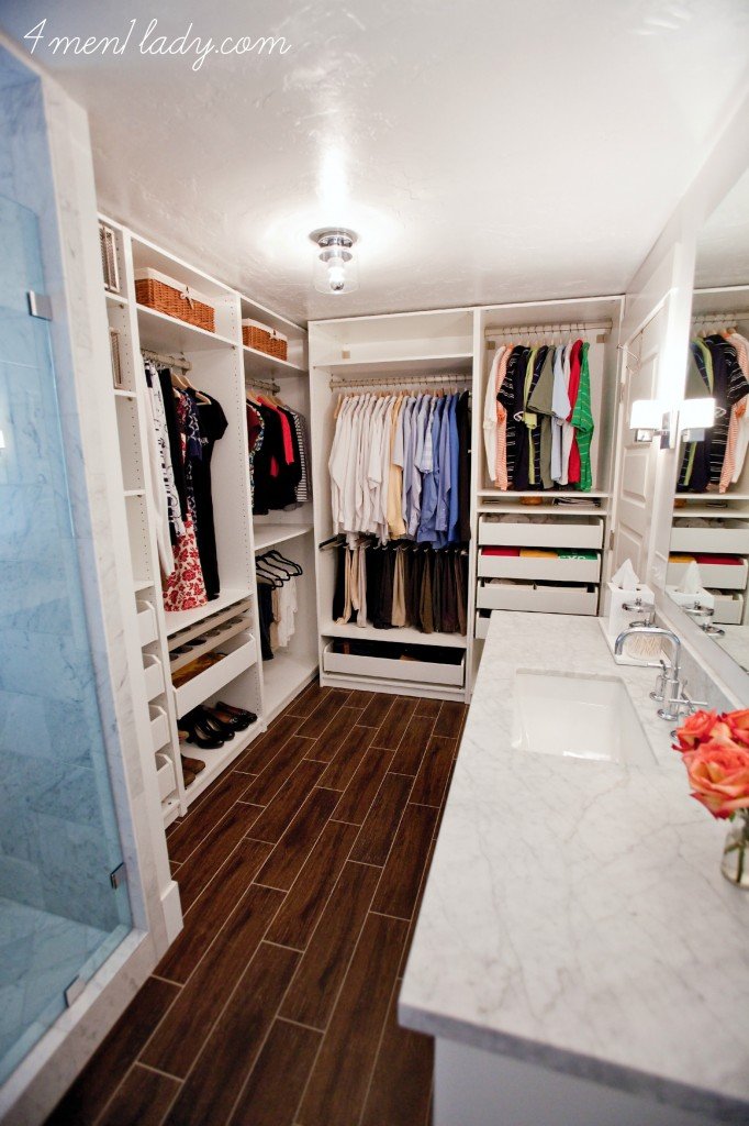 master bathroom and closet reveal