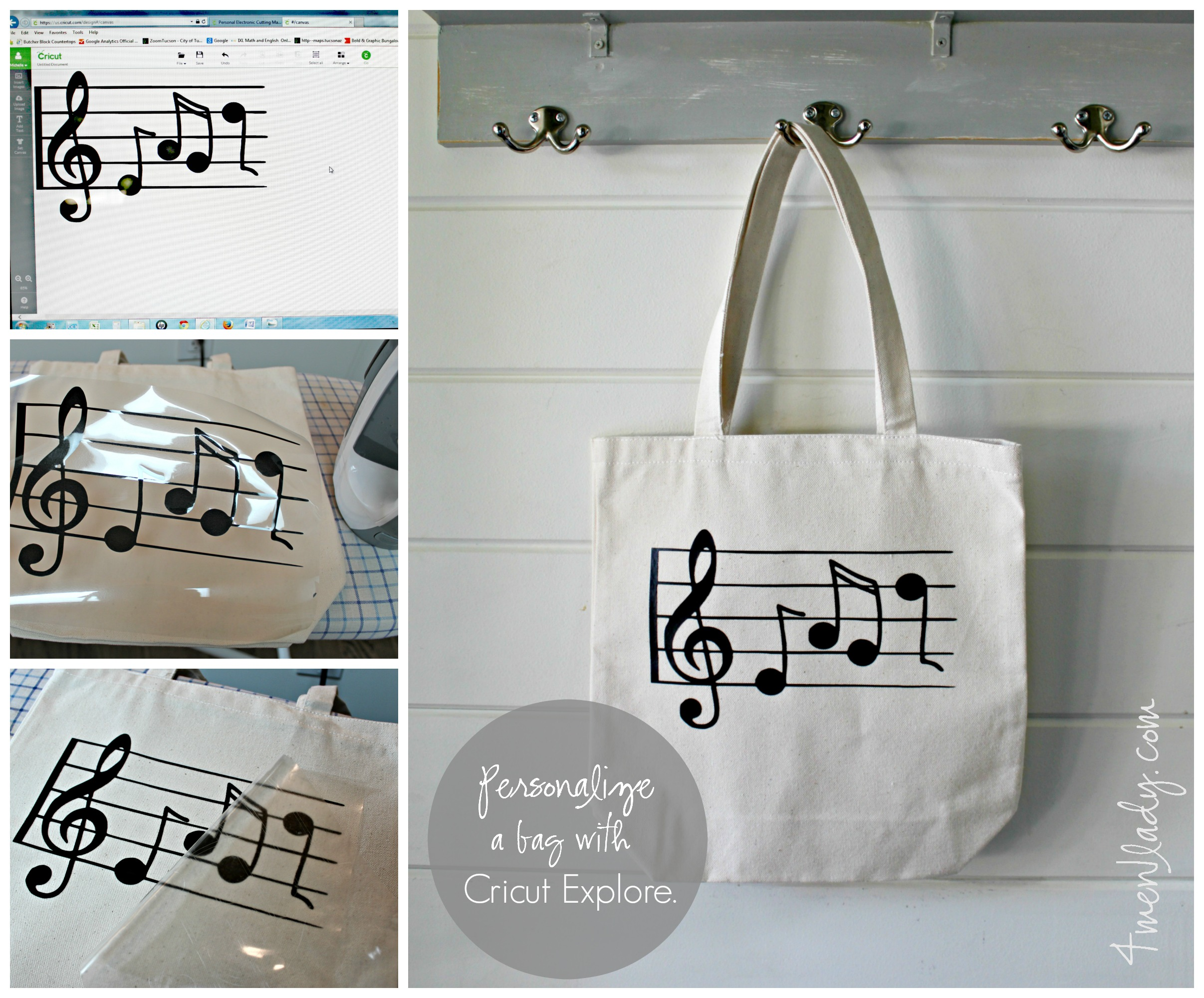 d569b70e2 Personalized tote bags made with Cricut Explore (and a breast story).