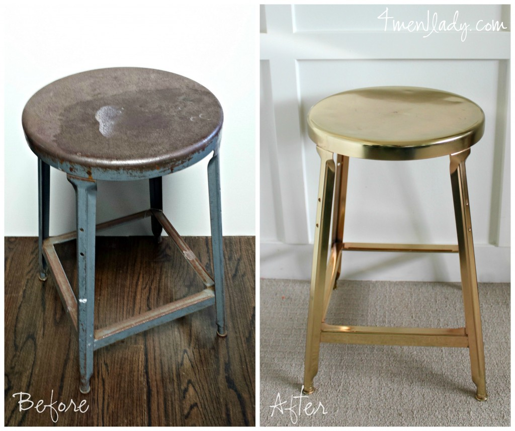 Brass Plated Stool