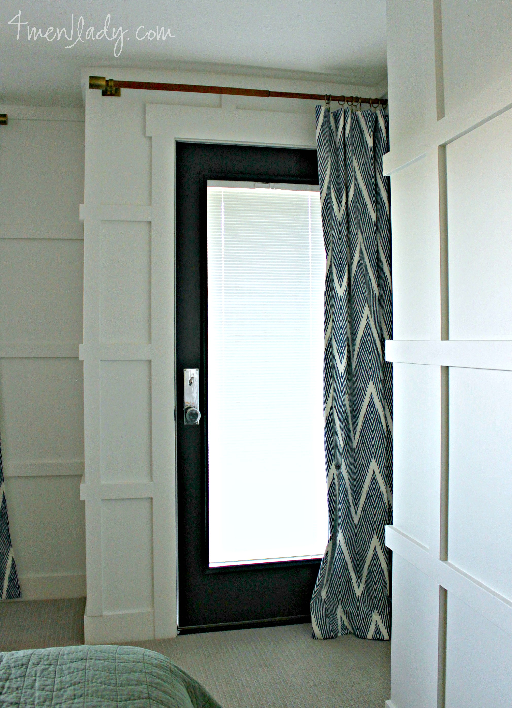 When we first moved in we had a new Jeldwen door installed that we ordered  through the Home Depot  It s a beautiful door and well. Bedroom door before and after