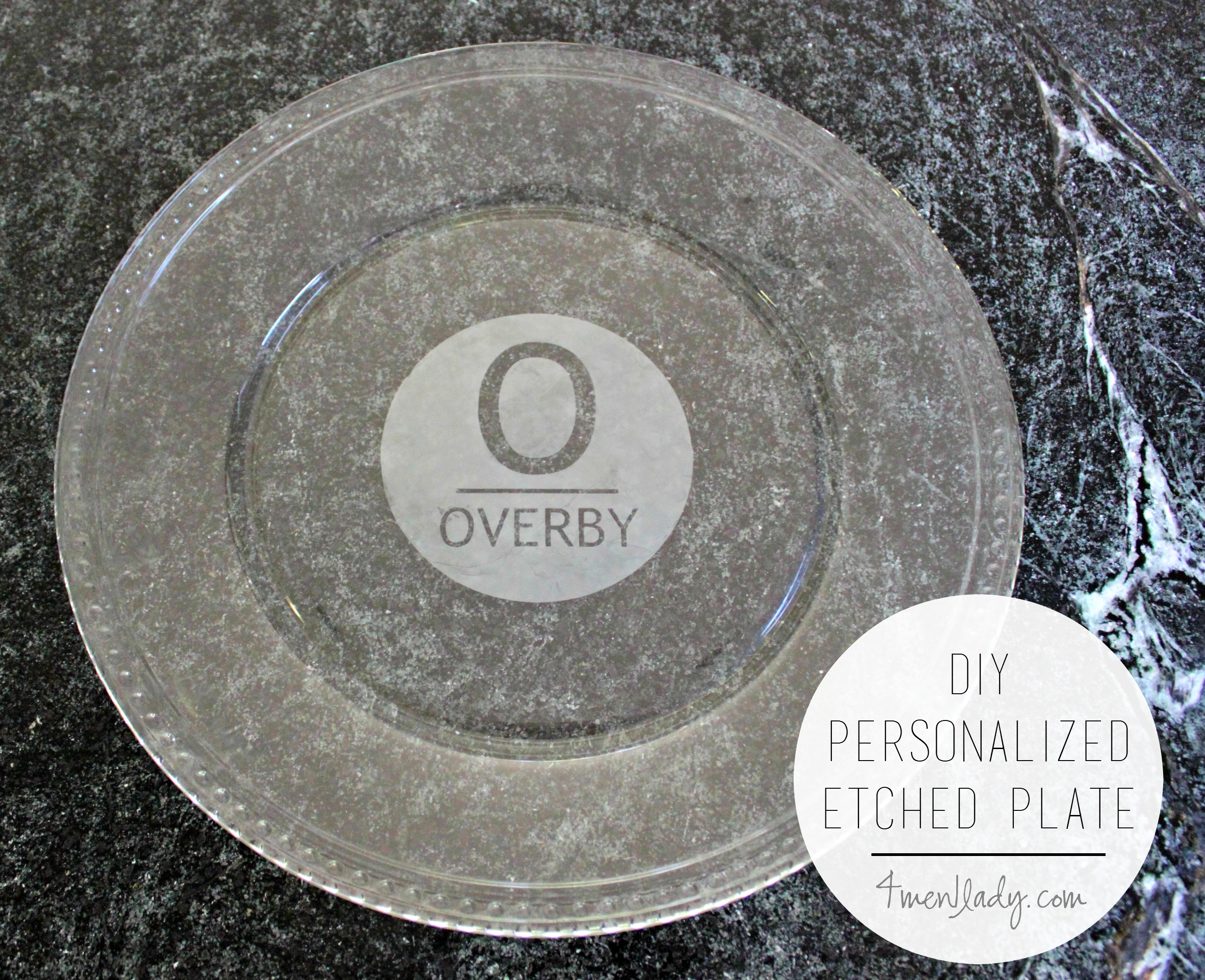 Diy Personalized Etched Glass