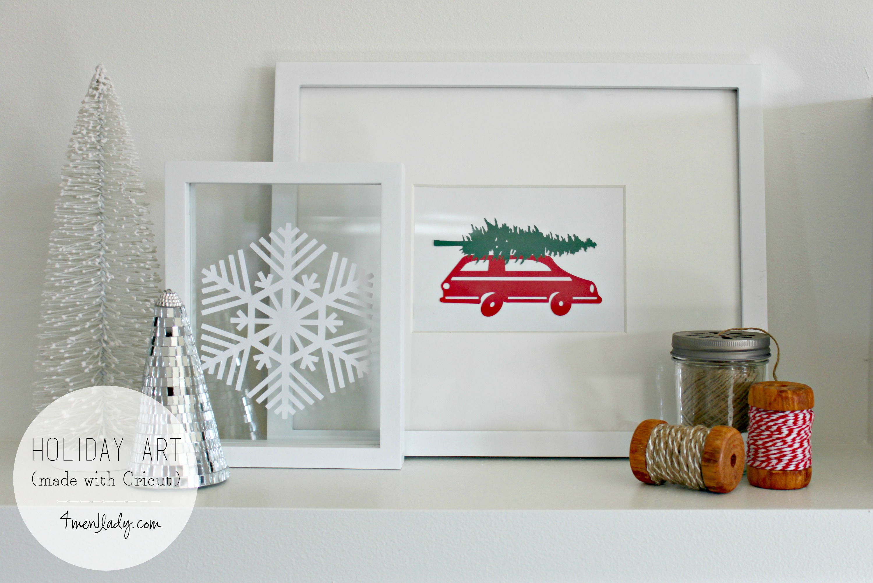 Making it a White Christmas with Cricut Explore.