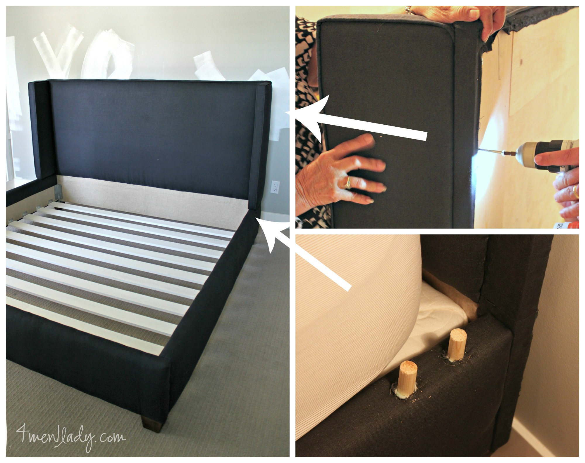 Diy Upholstered Wing Bed