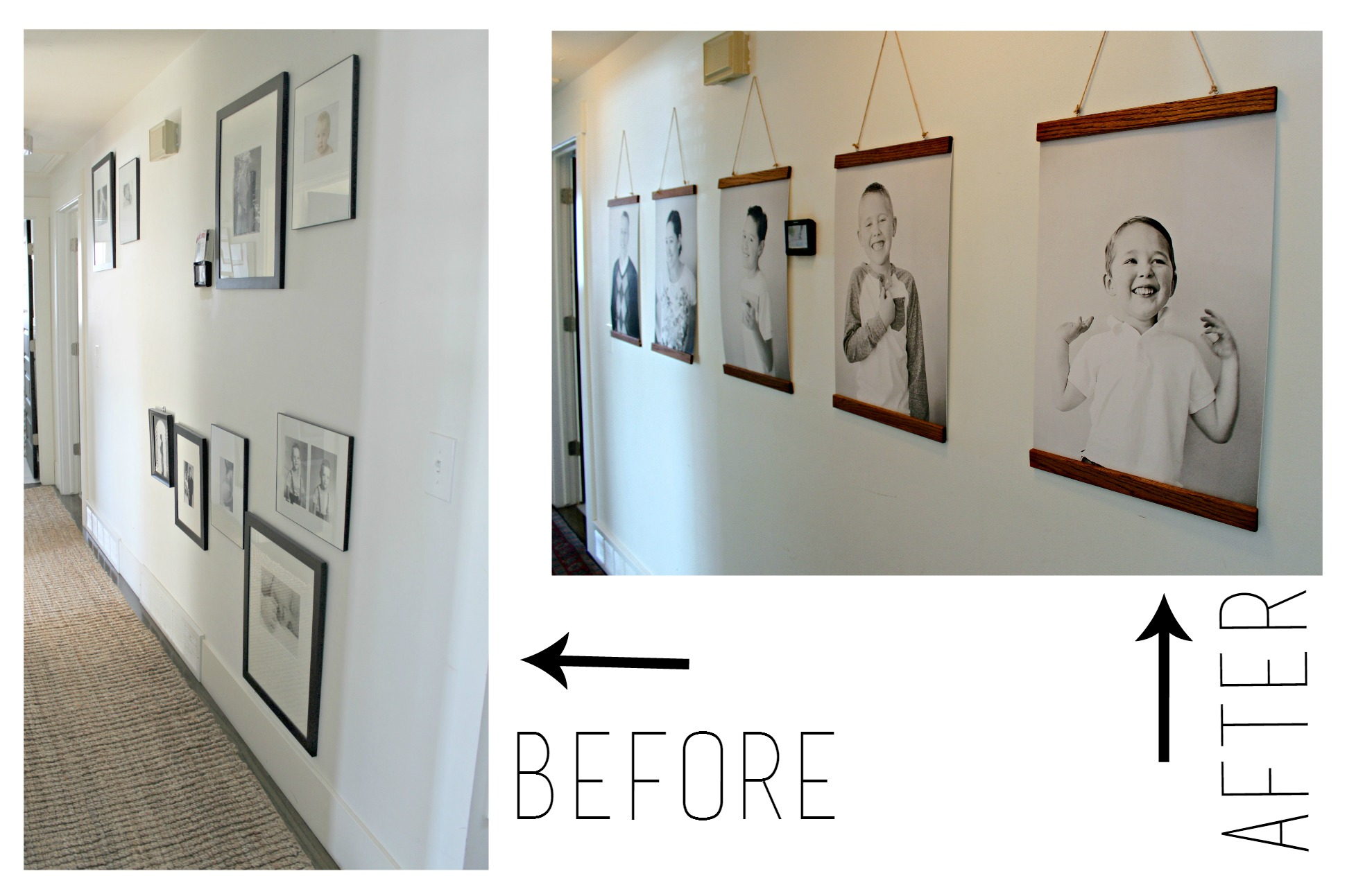 Ideas For Hanging Pictures On Wall Without Frames diy hanging wood frames.