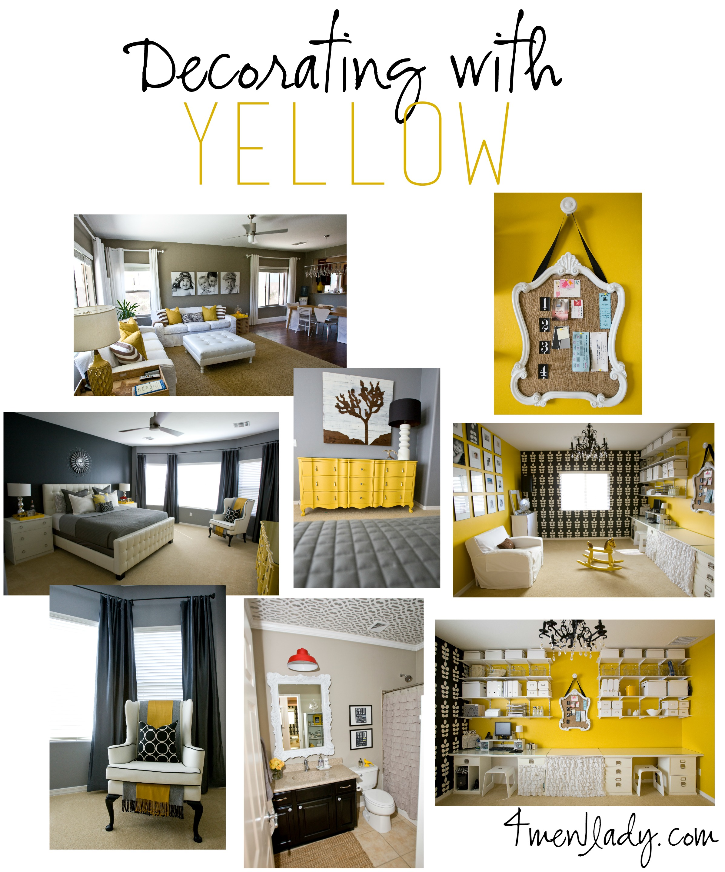 Decoratin with yellow by 4men1lady