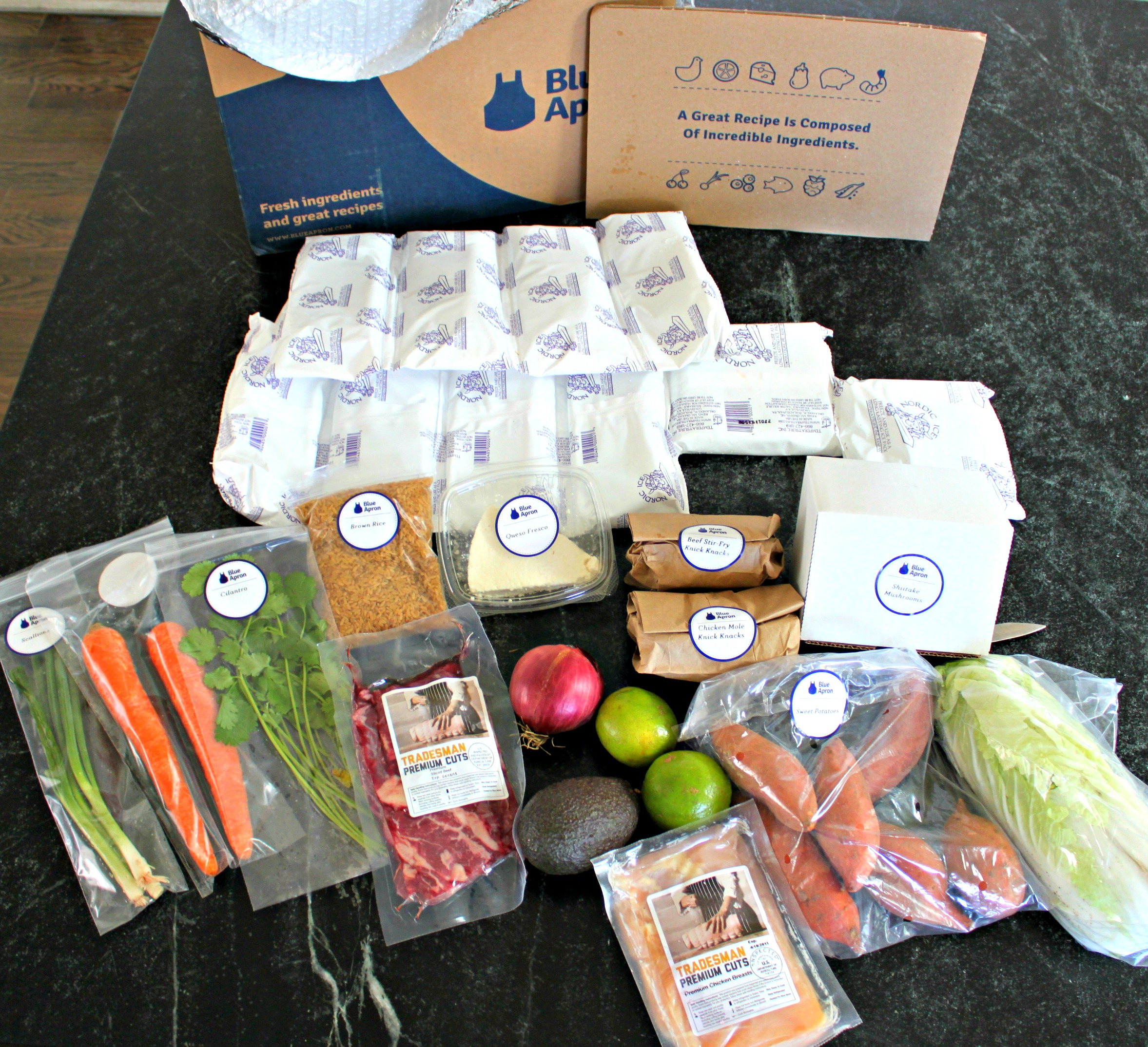 Blue apron dinners