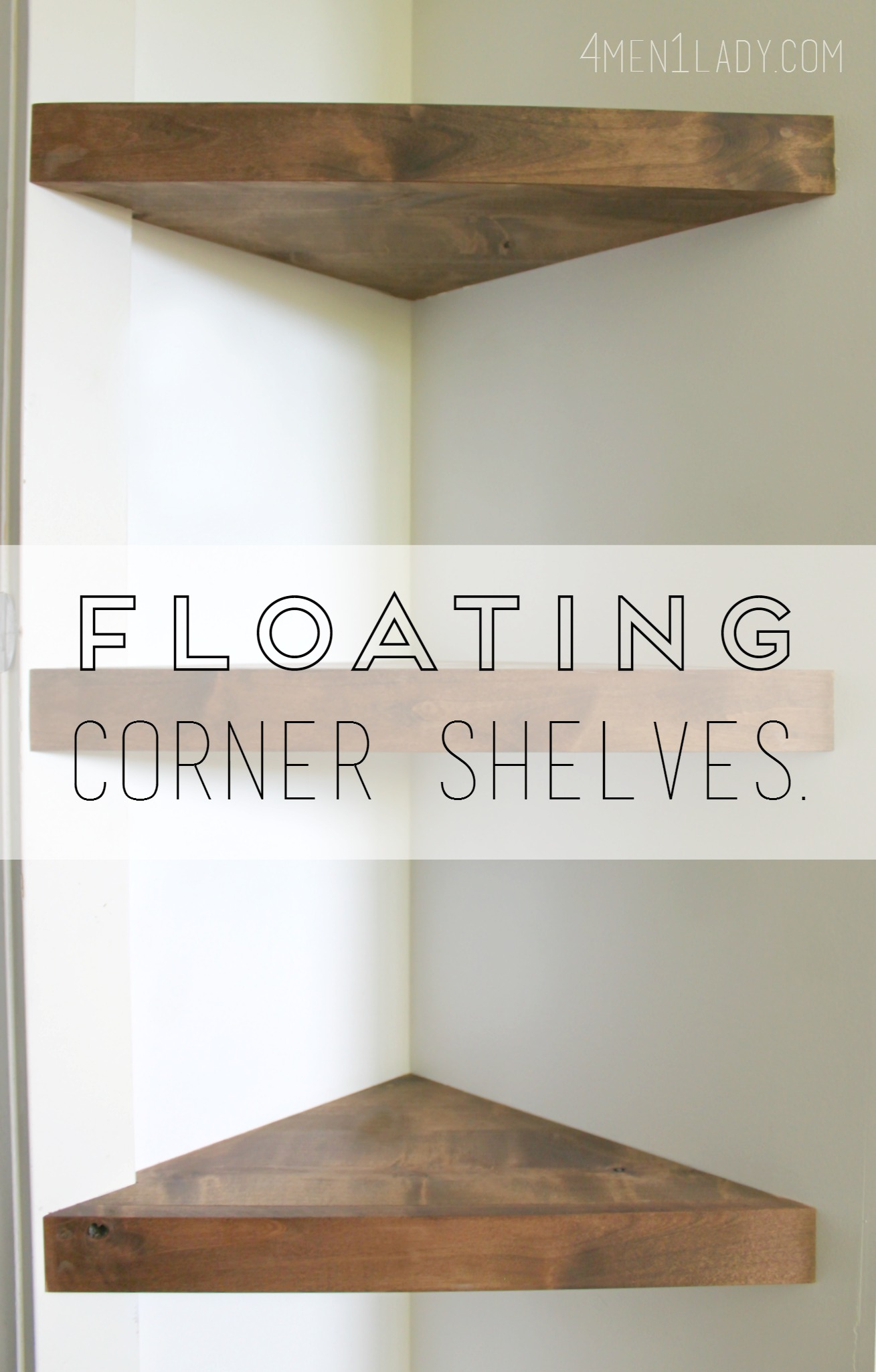 Diy Corner Shelves Corner Shelf Floating Shelf