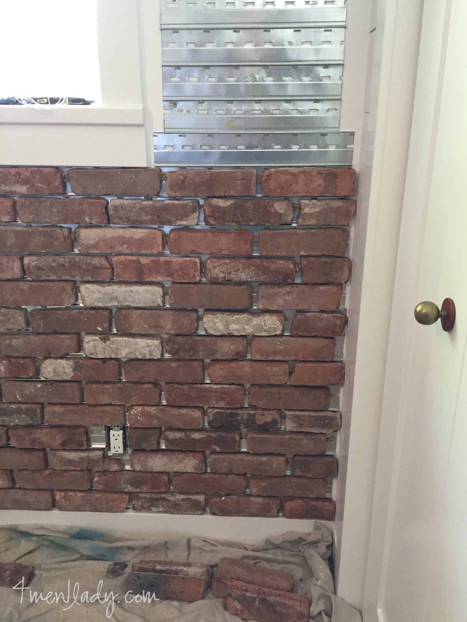 laying an interior brick wall