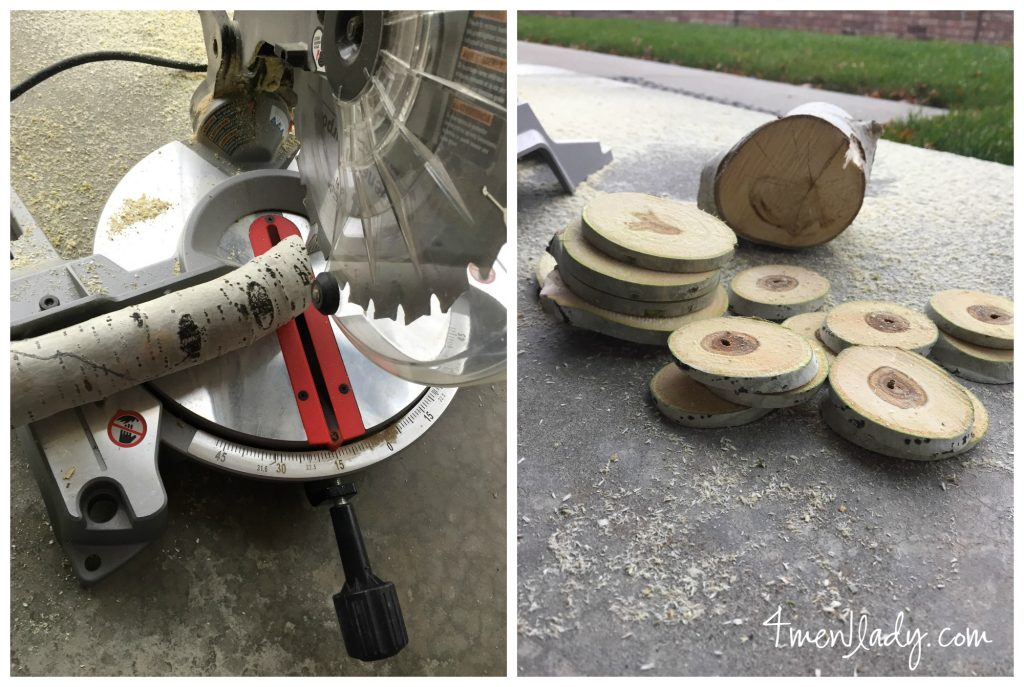Chop saw collage with logo