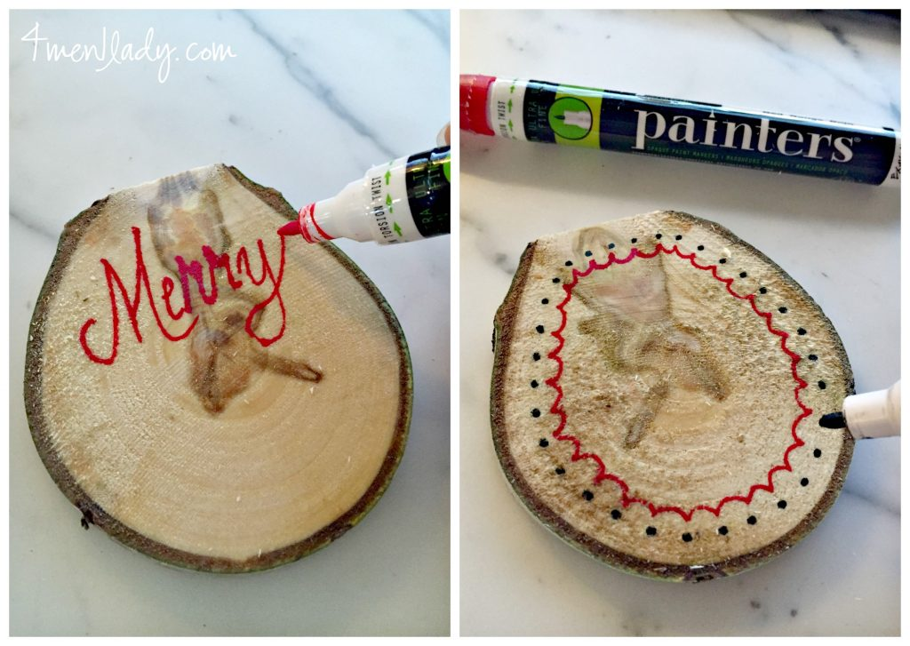 Birch tree christmas crafts for Paint pens for wood crafts