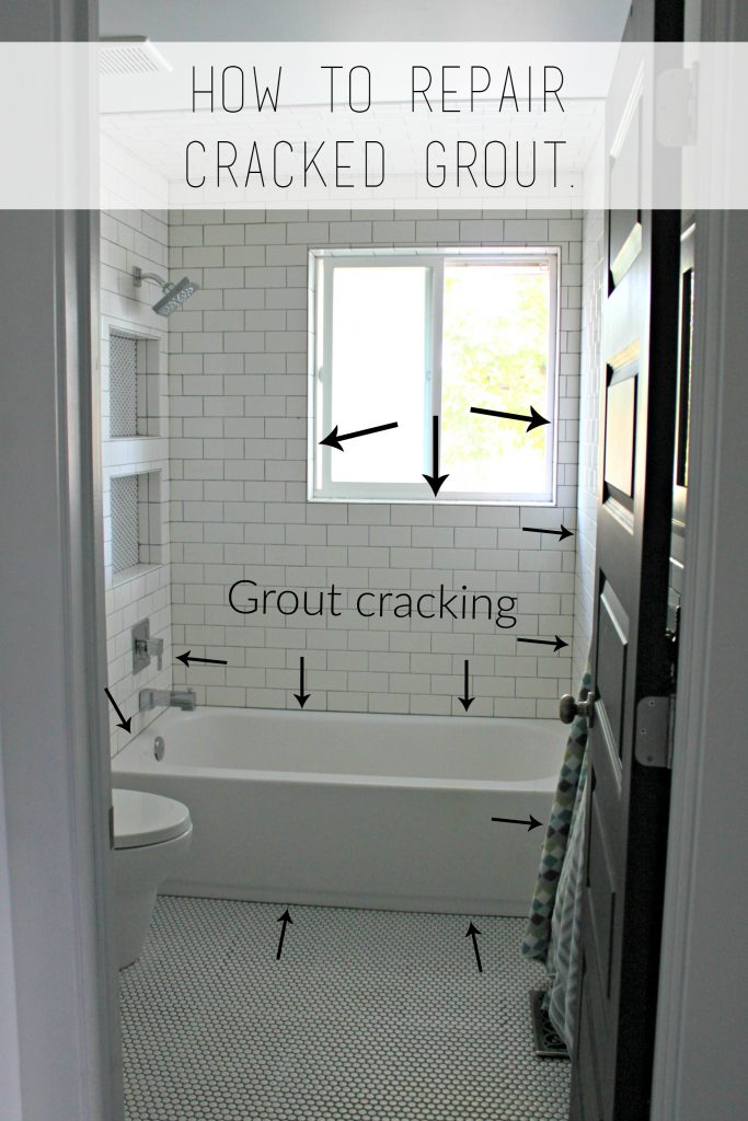 cracked grout