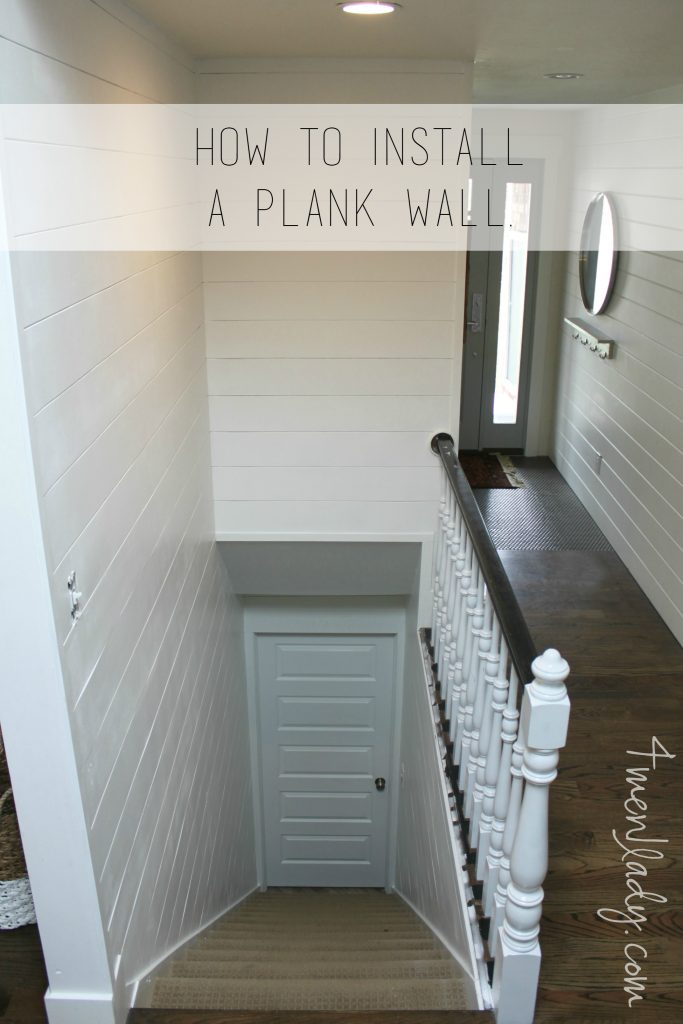 how to install plank wall