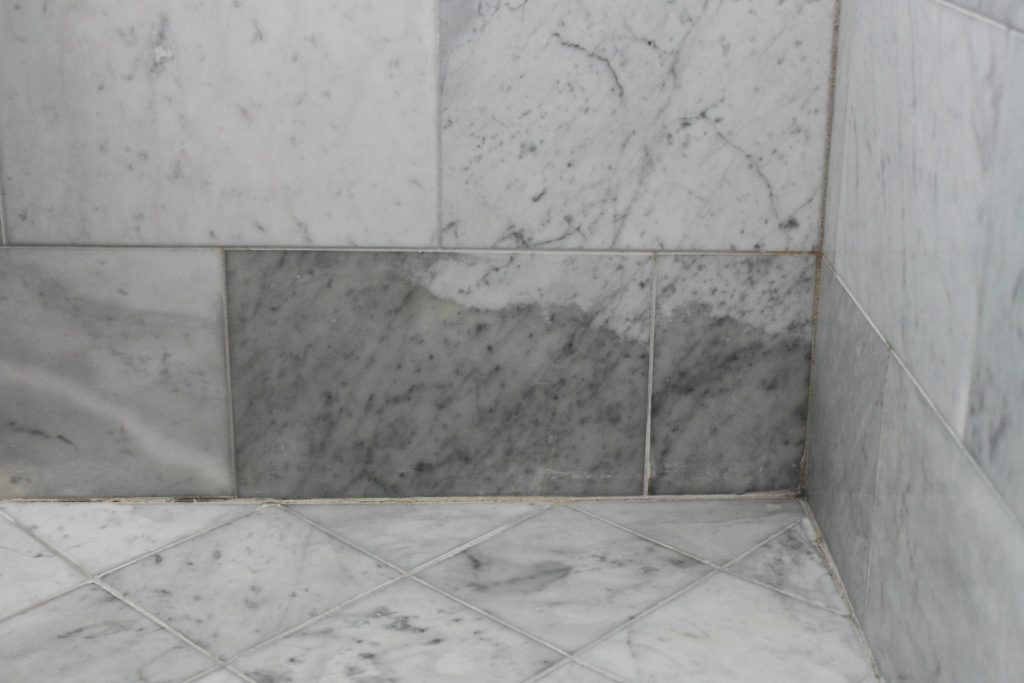 Marble Bathroom Tile why marble isn't the best option in a shower or bath.