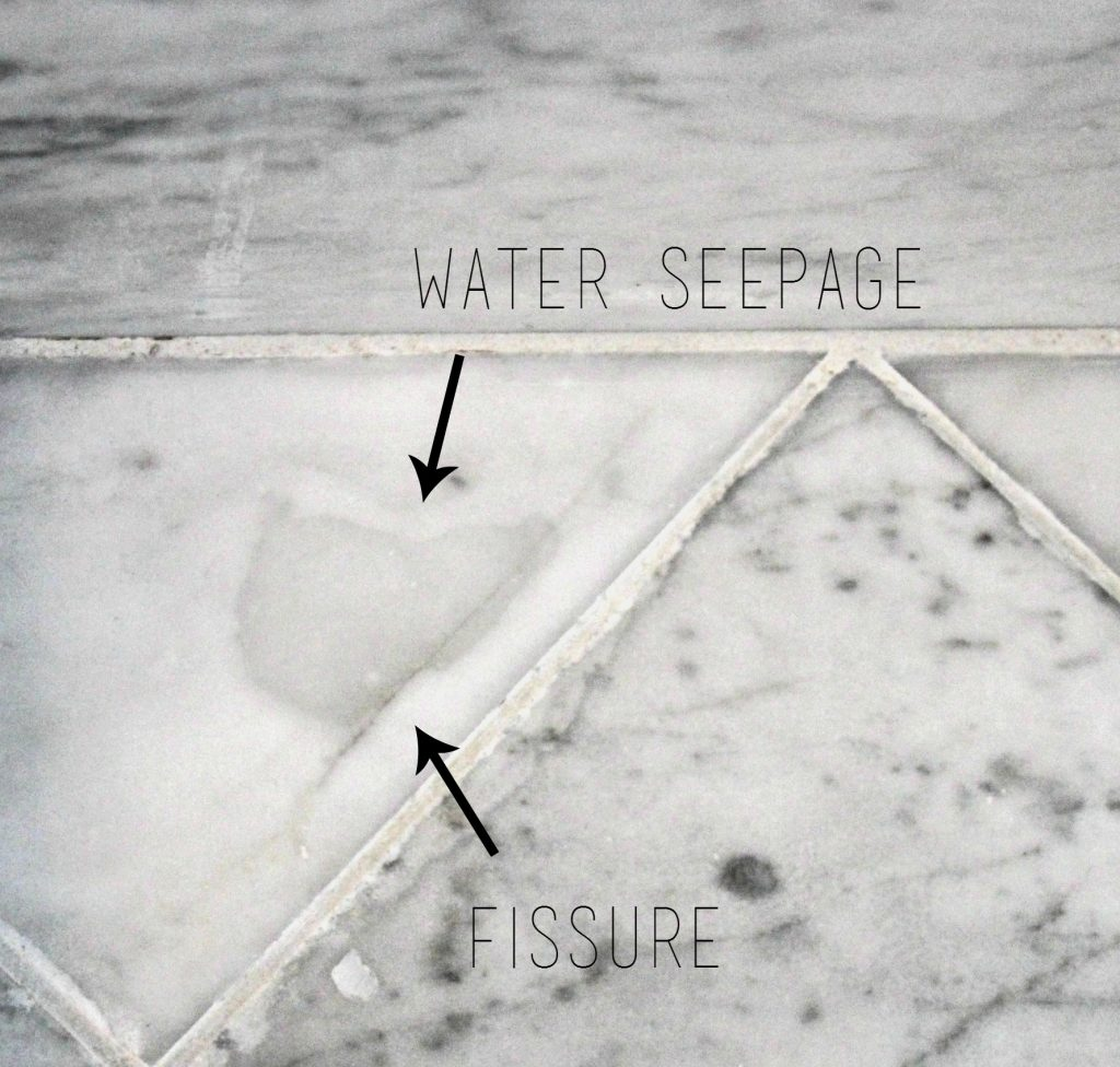 Why marble isn\'t the best option in a shower or bath.