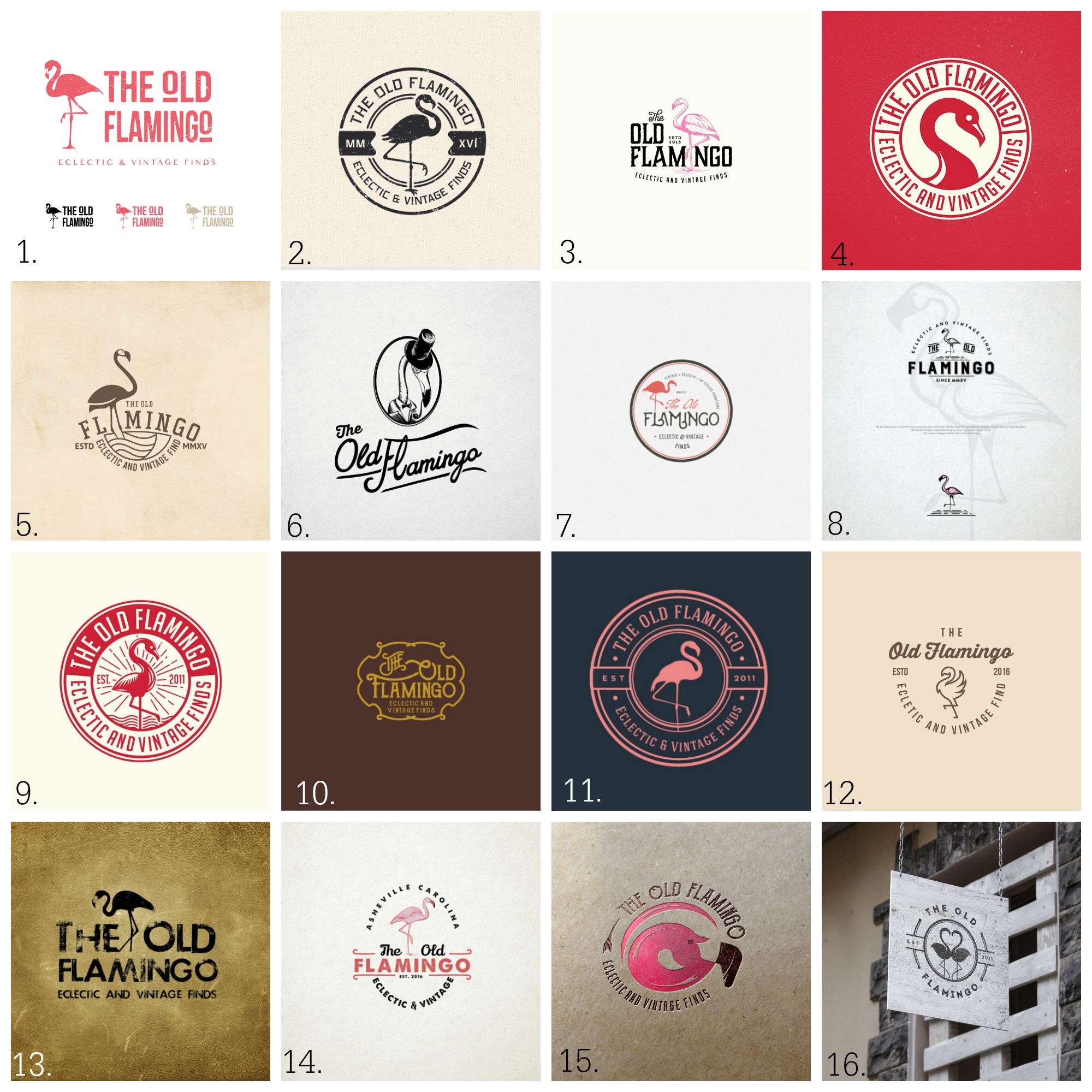 99Designs for TheOldFlamingo Collage