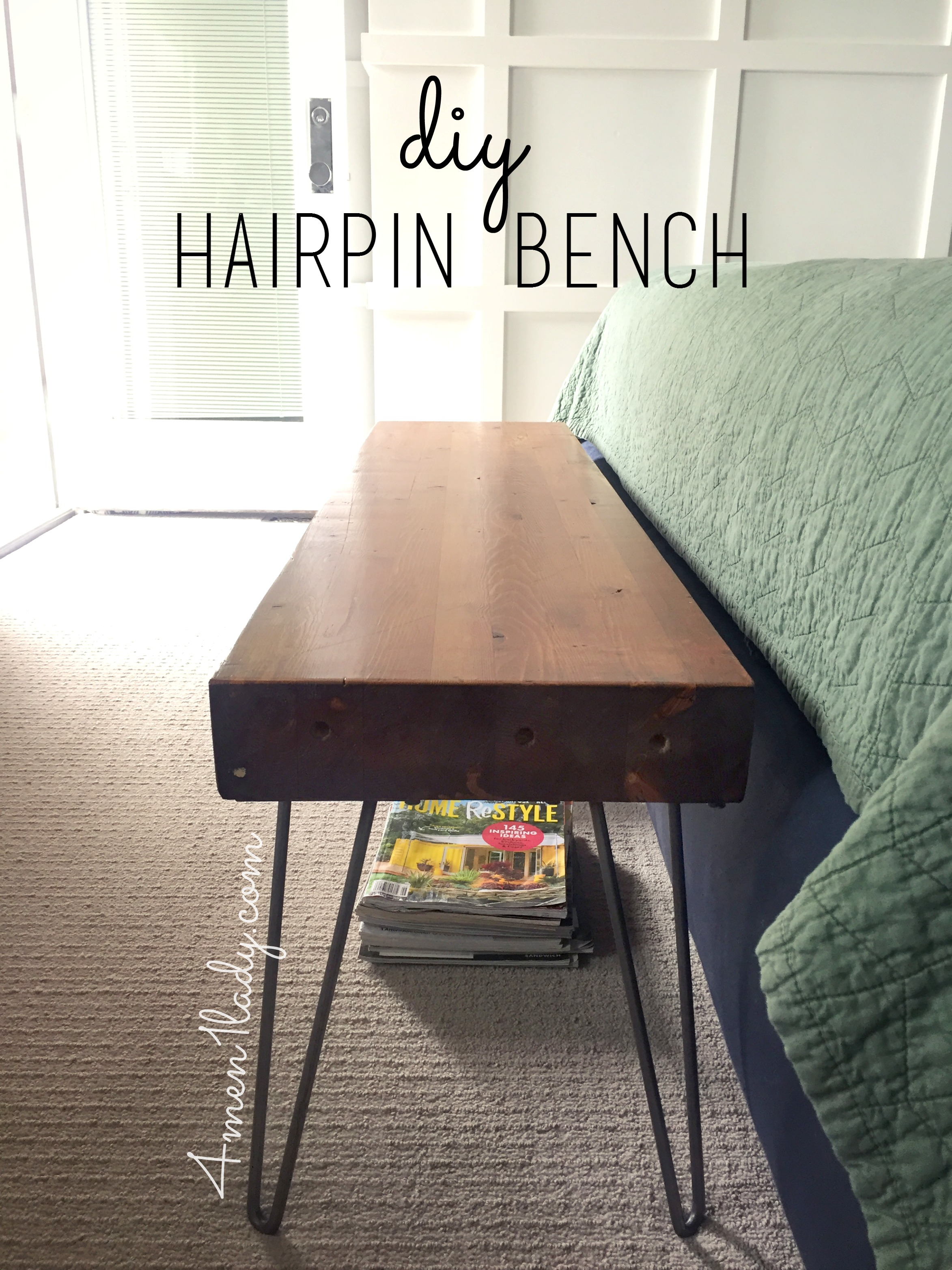 Diy Hairpin Bench