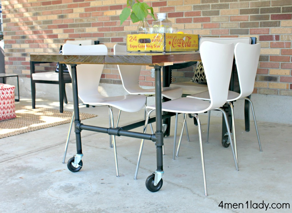 If You Decide Not To Put Your Table On Casters Ll Need Compensate The Height Of Pipes Or Wver Opt For Feet Rox 5 Inches