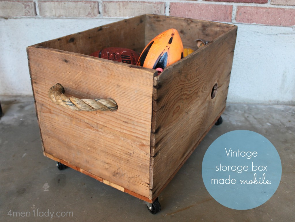 Excellent Vintage box crate turned toy box. MN44