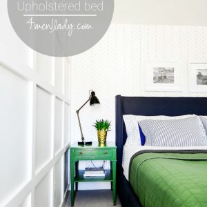 DIY Upholstered Wing Bed.